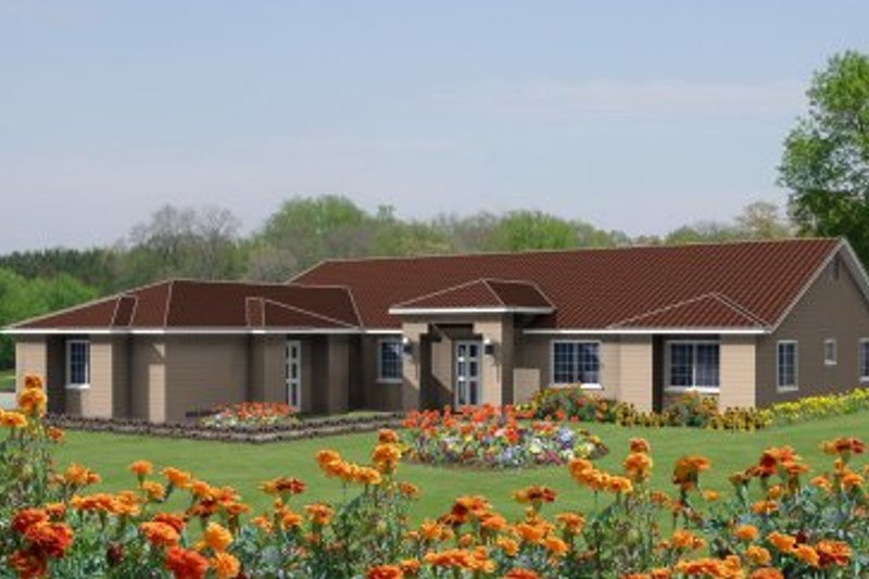 Traditional Style House Plan - 3 Beds 3 Baths 2381 Sq/Ft Plan #1-546 Exterior - Front Elevation