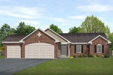 Architectural House Design - Ranch Exterior - Front Elevation Plan #22-467