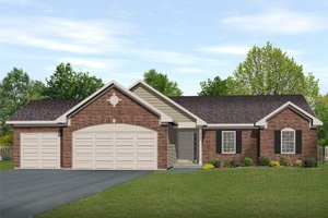 Ranch Exterior - Front Elevation Plan #22-467