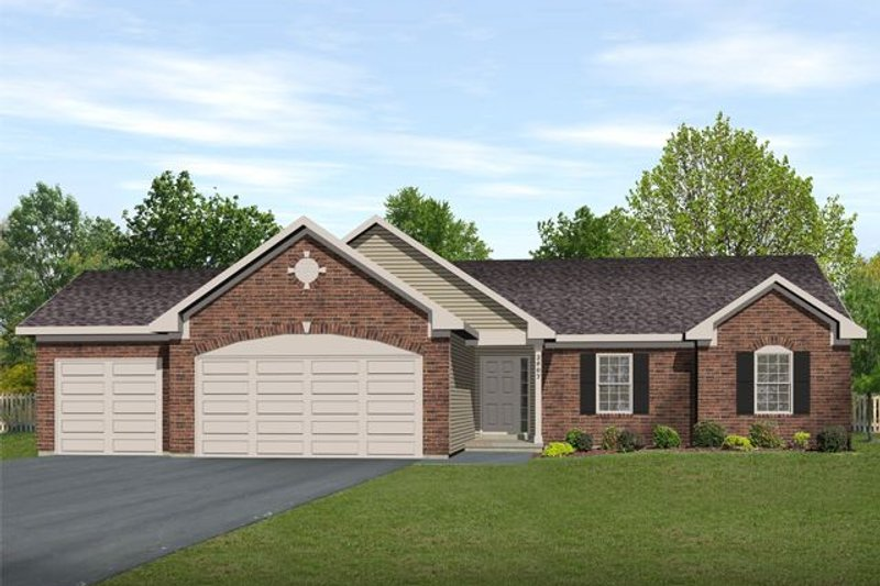 Dream House Plan - Ranch Exterior - Front Elevation Plan #22-467