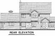Traditional Style House Plan - 4 Beds 3 Baths 1917 Sq/Ft Plan #18-276 Exterior - Rear Elevation