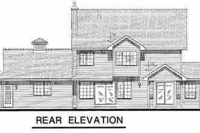 Traditional Exterior - Rear Elevation Plan #18-276 - Houseplans.com