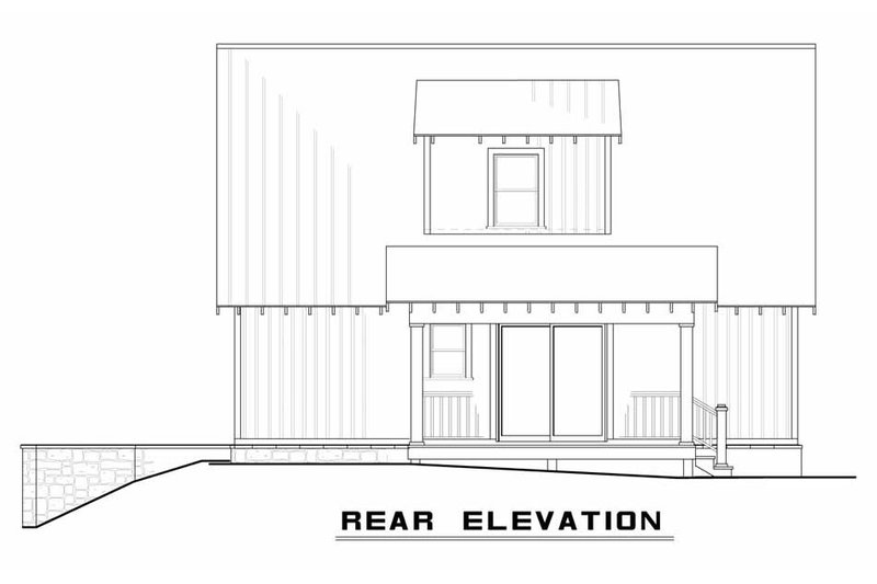 Country Exterior - Rear Elevation Plan #923-46 - Houseplans.com