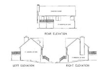 House Plan Design - Traditional Exterior - Rear Elevation Plan #56-102