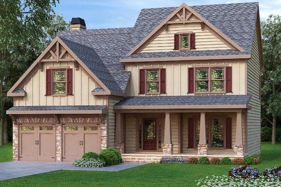 Craftsman Exterior - Front Elevation Plan #419-168