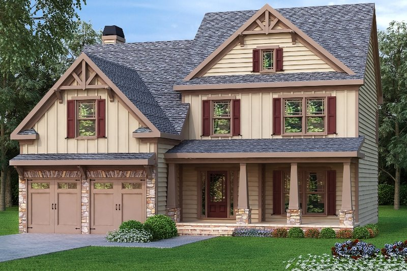 Craftsman Exterior - Front Elevation Plan #419-168