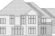 European Style House Plan - 2 Beds 1.5 Baths 2297 Sq/Ft Plan #70-590 Exterior - Rear Elevation