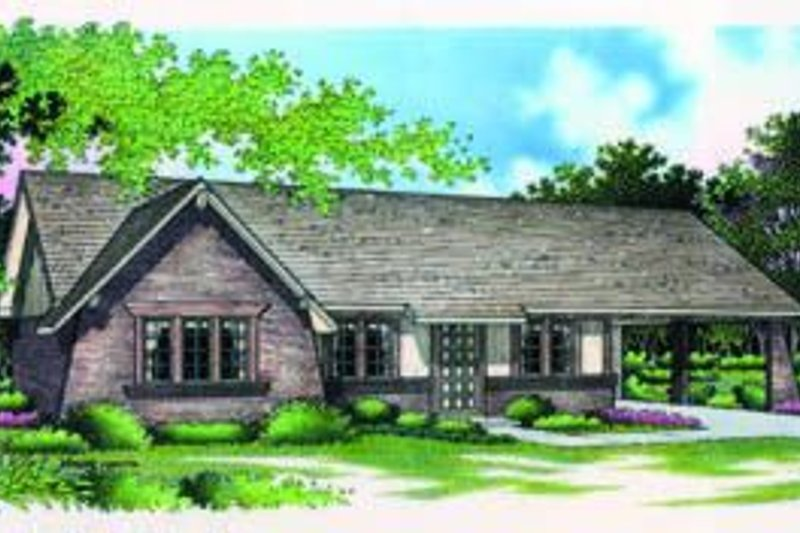 Dream House Plan - European Exterior - Front Elevation Plan #45-182