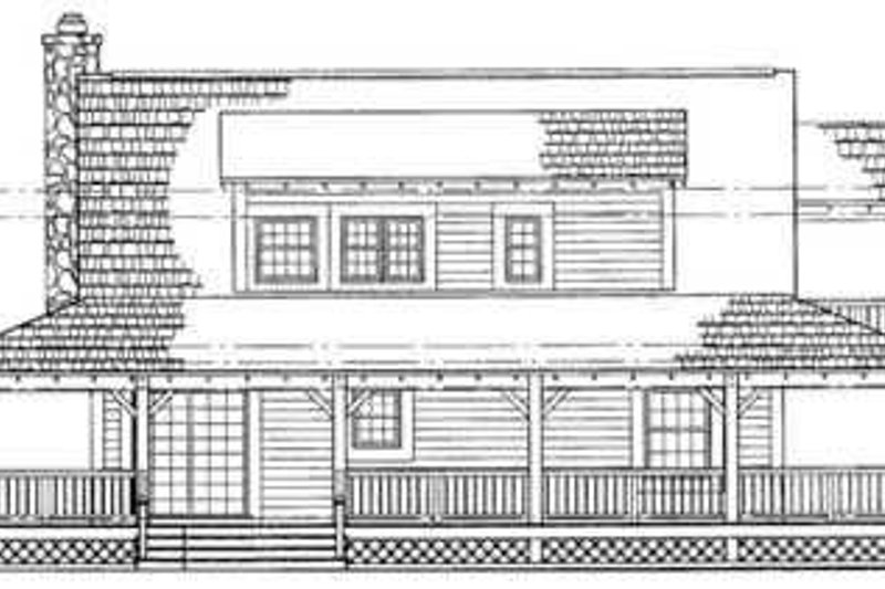 Country Exterior - Rear Elevation Plan #72-106 - Houseplans.com