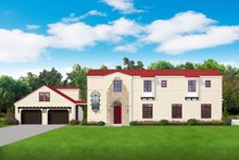 House Design - Mediterranean Exterior - Front Elevation Plan #1058-174