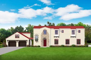 Mediterranean Exterior - Front Elevation Plan #1058-174