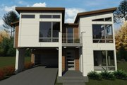 Contemporary Style House Plan - 4 Beds 3 Baths 3185 Sq/Ft Plan #1066-126 Exterior - Front Elevation