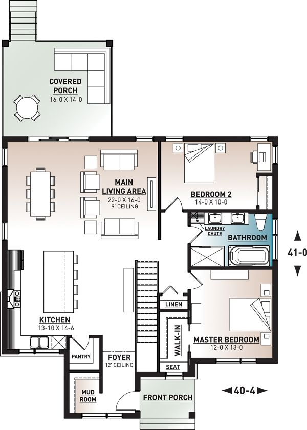 Dream House Plan - Modern Floor Plan - Main Floor Plan #23-2722