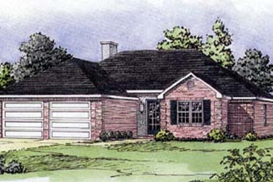 Traditional Exterior - Front Elevation Plan #16-104