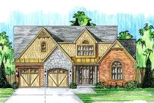 Home Plan - Farmhouse Exterior - Front Elevation Plan #46-489