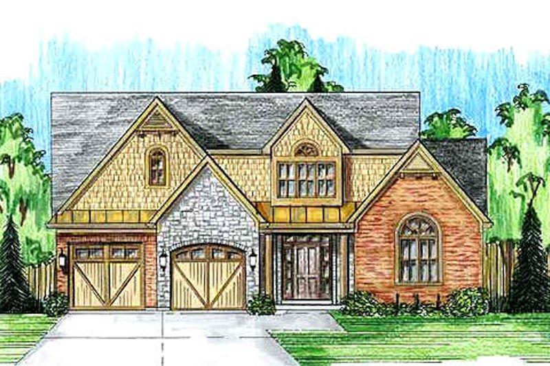Dream House Plan - Farmhouse Exterior - Front Elevation Plan #46-489