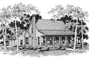 Cabin Exterior - Front Elevation Plan #41-174