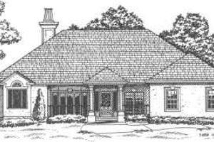European Exterior - Front Elevation Plan #30-180
