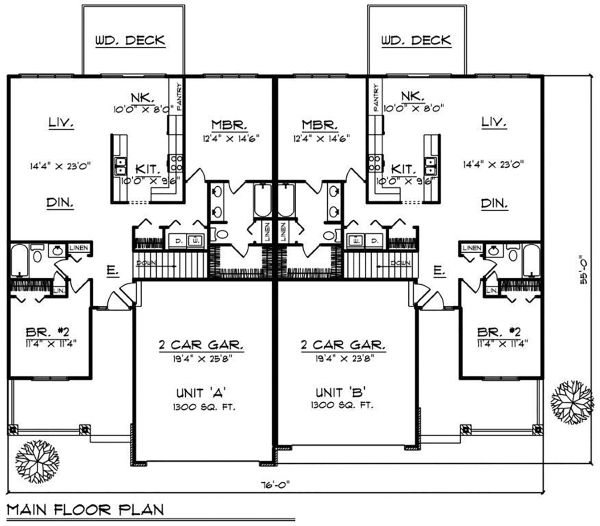 Country Floor Plan - Main Floor Plan Plan #70-1394