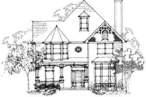 European Exterior - Front Elevation Plan #325-225