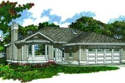 Traditional Style House Plan - 3 Beds 2 Baths 1253 Sq/Ft Plan #47-370 Exterior - Front Elevation