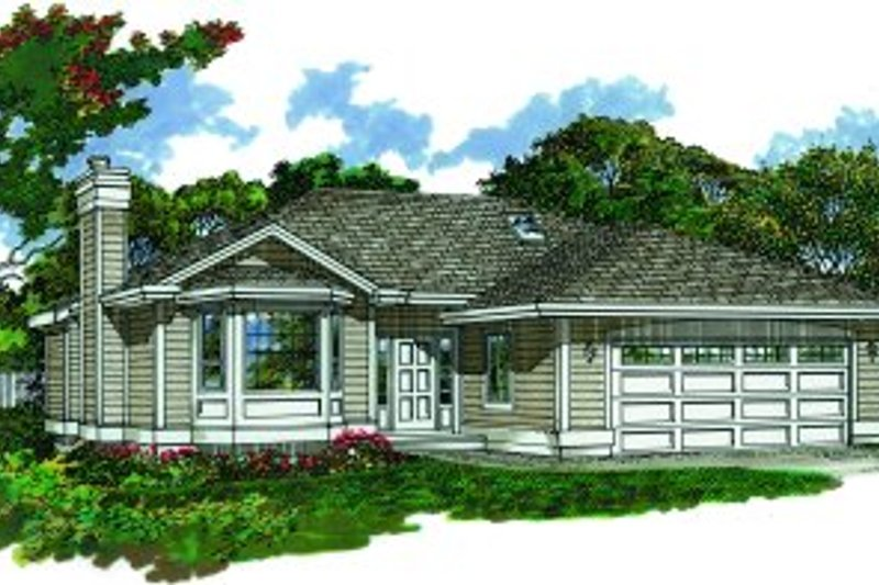 Traditional Style House Plan - 3 Beds 2 Baths 1253 Sq/Ft Plan #47-370