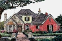 House Plan Design - European Exterior - Front Elevation Plan #310-880