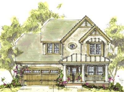 Farmhouse Exterior - Front Elevation Plan #20-1221 - Houseplans.com