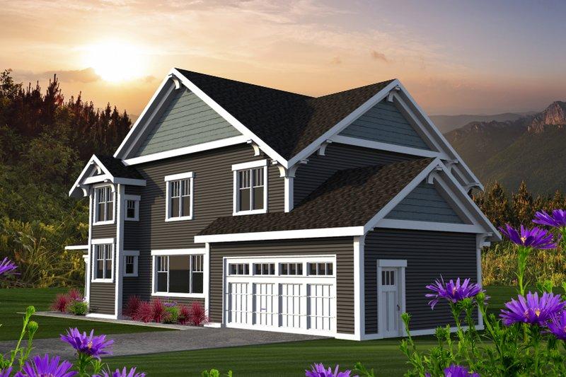 Craftsman Exterior - Rear Elevation Plan #70-1219 - Houseplans.com