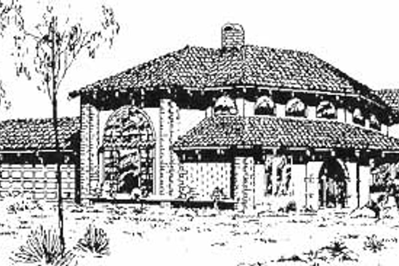 Home Plan - Mediterranean Exterior - Front Elevation Plan #60-639