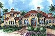 Mediterranean Style House Plan - 4 Beds 4.5 Baths 5841 Sq/Ft Plan #27-273 Exterior - Other Elevation