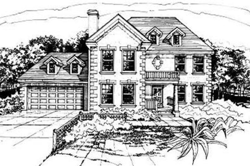 Home Plan Design - European Exterior - Front Elevation Plan #50-208