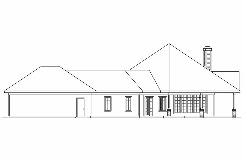 Ranch Exterior - Other Elevation Plan #124-577 - Houseplans.com