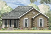 Traditional Style House Plan - 3 Beds 2 Baths 1240 Sq/Ft Plan #424-257 Exterior - Front Elevation