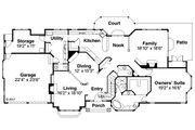 European Style House Plan - 4 Beds 4.5 Baths 3461 Sq/Ft Plan #124-349 Floor Plan - Main Floor Plan