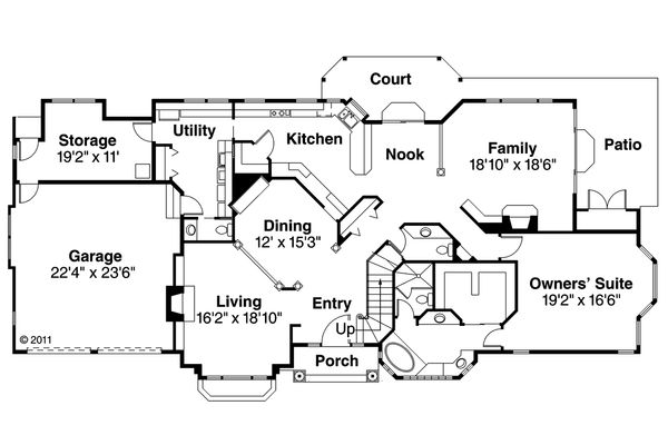 European Floor Plan - Main Floor Plan Plan #124-349