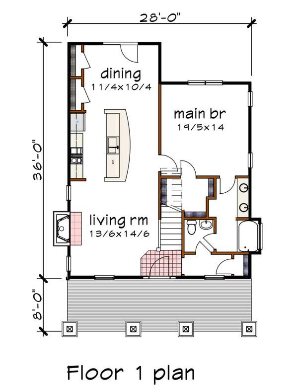 Architectural House Design - Bungalow Floor Plan - Main Floor Plan #79-204
