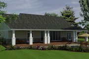 Ranch Style House Plan - 4 Beds 2 Baths 1863 Sq/Ft Plan #18-9543 Exterior - Rear Elevation