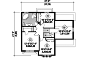 Traditional Style House Plan - 3 Beds 1 Baths 1591 Sq/Ft Plan #25-4483 Floor Plan - Upper Floor Plan