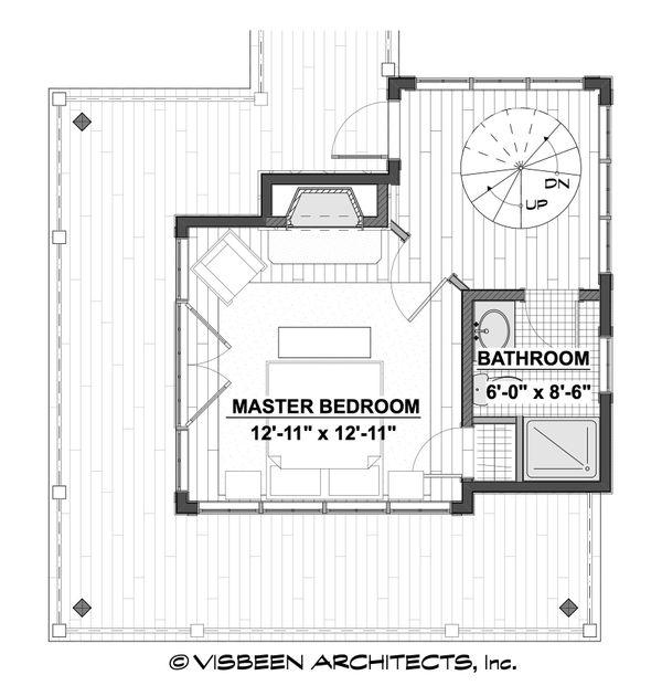 Architectural House Design - Cabin Floor Plan - Upper Floor Plan #928-362