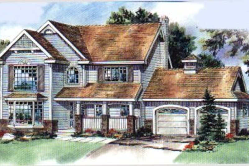 House Blueprint - Traditional Exterior - Front Elevation Plan #18-276