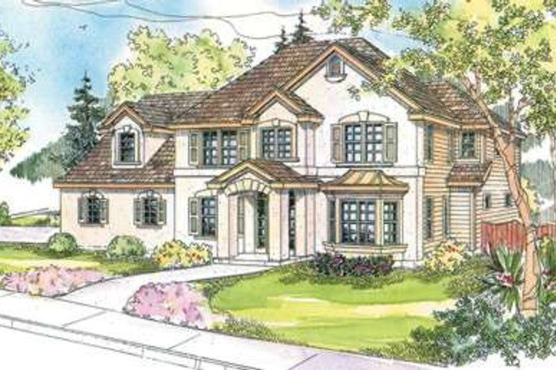 Mediterranean Exterior - Front Elevation Plan #124-588