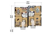 Contemporary Style House Plan - 5 Beds 2 Baths 2421 Sq/Ft Plan #25-4353 Floor Plan - Main Floor Plan