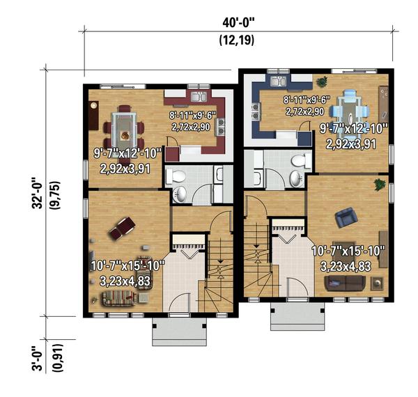 Contemporary Floor Plan - Main Floor Plan Plan #25-4353