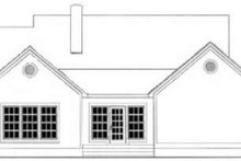 House Plan Design - Farmhouse Exterior - Rear Elevation Plan #406-265