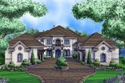Mediterranean Style House Plan - 6 Beds 7.5 Baths 11672 Sq/Ft Plan #27-466 Exterior - Front Elevation