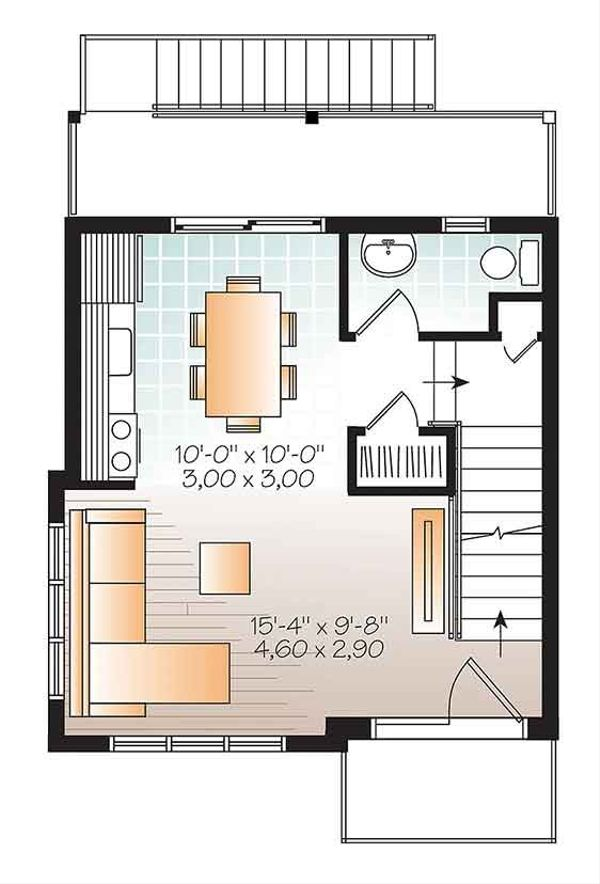 Contemporary Floor Plan - Upper Floor Plan Plan #23-2600