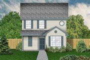 Colonial Style House Plan - 4 Beds 2.5 Baths 1697 Sq/Ft Plan #84-121 Exterior - Front Elevation