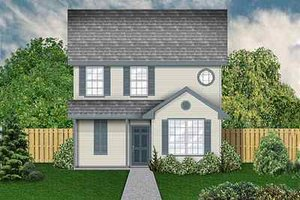 Home Plan - Colonial Exterior - Front Elevation Plan #84-121