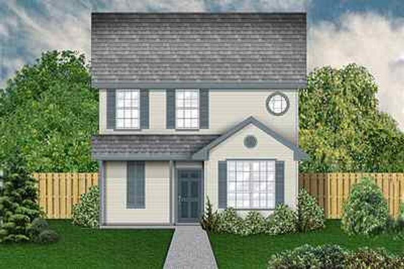 Colonial Exterior - Front Elevation Plan #84-121 - Houseplans.com